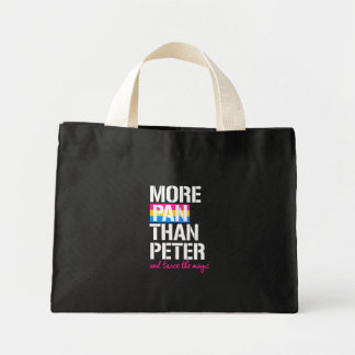 Pansexuality - More Pan Than Peter and twice the m Mini Tote Bag