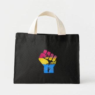 PANSEXUALS RESIST FIST - LGBTQ Vintage Artwork -.p Mini Tote Bag