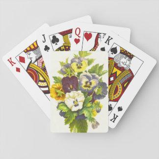 Pansies 1874 playing cards