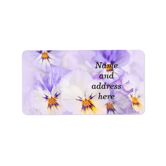 Pansies Address Label