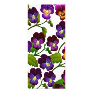Pansies and Violas Floral Bookmark Custom Rack Cards