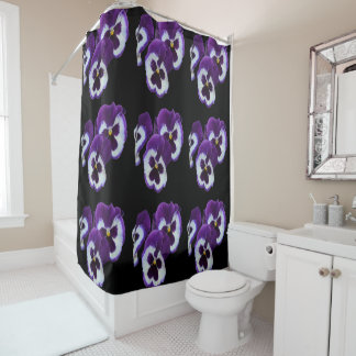 Pansies_Delicious_Bathroom_Shower_Curtain Shower Curtain