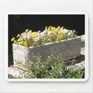 Pansies In A Sarcophagus Planter Mouse Pad