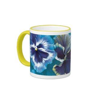 Pansies mug mug