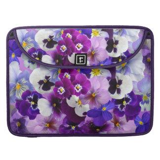 Pansies Spring Flowers Macbook Computer Sleeve