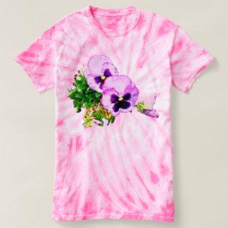 Pansies tee shirt 17p