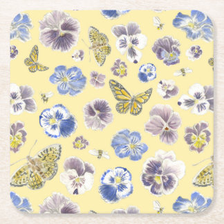 Pansy and Butterfly Coaster