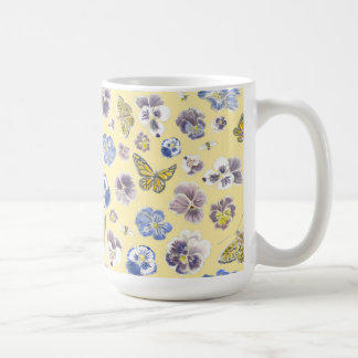 Pansy and Butterfly Mug