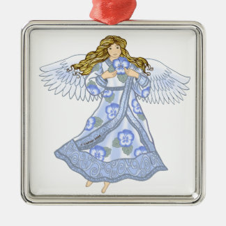 Pansy Angel metal ornament
