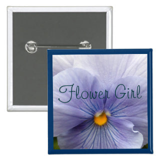 Pansy Baby Blue Pinback Buttons