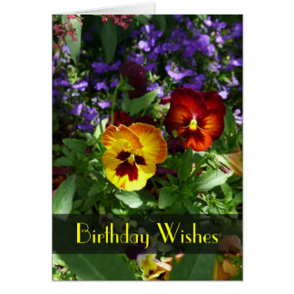 Pansy Birthday Wishes Card