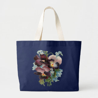 Pansy Bouquet Large Tote Bag