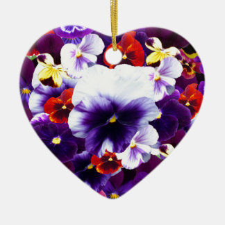 Pansy Celebration, Ceramic Ornament