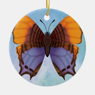 Pansy Daggerwing Butterfly Ceramic Ornament