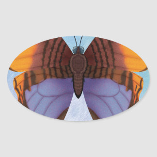 Pansy Daggerwing Butterfly Oval Sticker