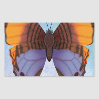 Pansy Daggerwing Butterfly Rectangular Sticker