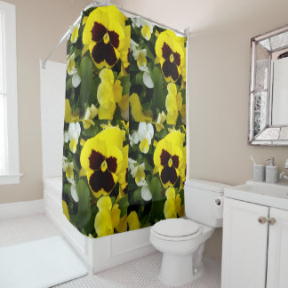 Pansy_Delight,_Bathroom_Shower_Curtain Shower Curtain