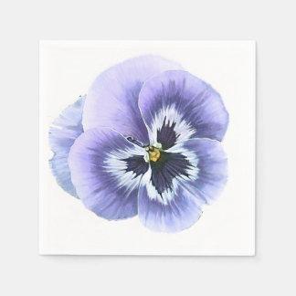 Pansy Face Purple Disposable Serviette
