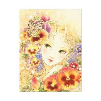 Pansy Fantasy Art Canvas Print