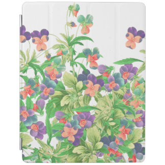 Pansy Floral Botanical Flowers Ipad Cover