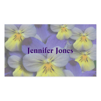 Pansy Floral Mommy Calling Card Pack Of Standard Business Cards