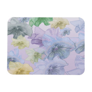 Pansy Flower Background Rectangular Photo Magnet