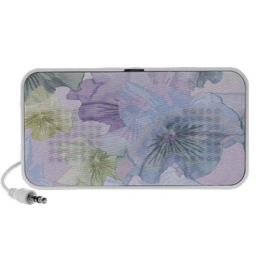 Pansy Flower Background Travel Speaker
