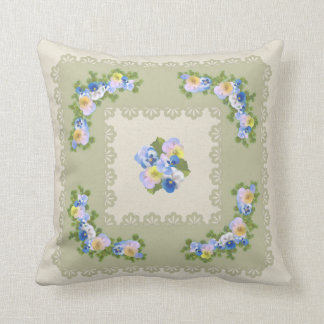 Pansy flower pillow cushions