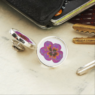 Pansy Flower Psychedelic Abstract Lapel Pin