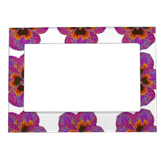 Pansy Flower Psychedelic Abstract Magnetic Frame