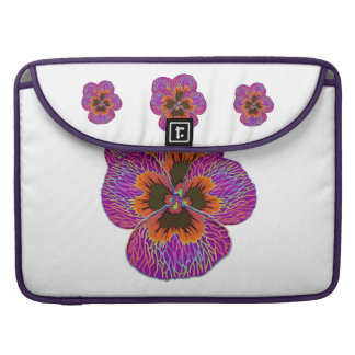 Pansy Flower Psychedelic Abstract Sleeve For MacBook Pro