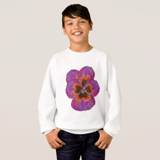 Pansy Flower Psychedelic Abstract Sweatshirt