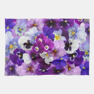 Pansy Flower Wallpaper Art Tea Towel