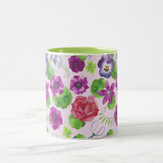 Pansy flowers. Pansy Two-Tone Coffee Mug
