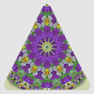 Pansy, Pansies Nature, Flower-Mandala Triangle Sticker