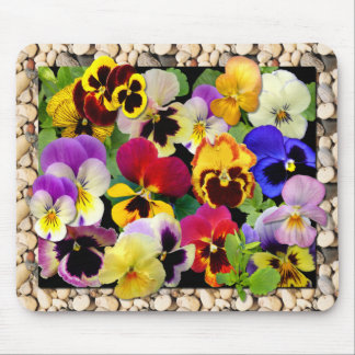 Pansy Patchwork ~ Mousepad