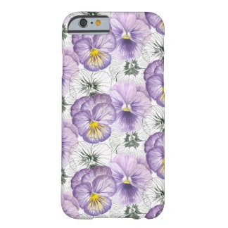 Pansy pattern barely there iPhone 6 case