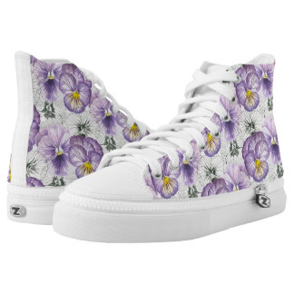 Pansy pattern high tops
