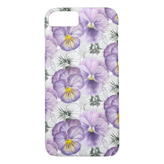 Pansy pattern iPhone 8/7 case