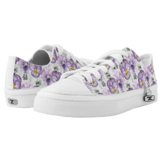 Pansy pattern low tops