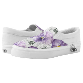 Pansy pattern Slip-On shoes