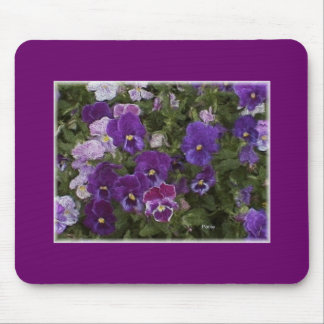 pansy purple mouse pad