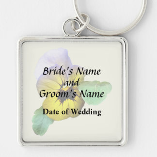 Pansy Saluting Wedding Supplies Key Ring