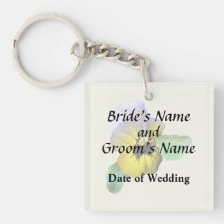 Pansy Saluting Wedding Supplies Key Ring