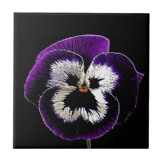 Pansy Small Square Tile