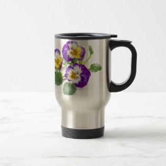 pansy travel mug