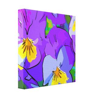 Pansyvioletand yellow canvas print