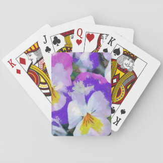 Pansy violet and yellow playing cards