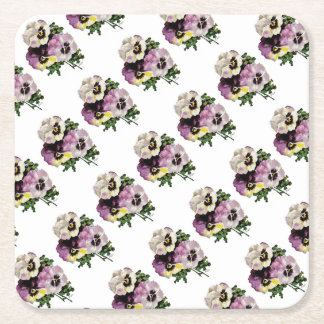 pansy water colourfinal signed3000 copy square paper coaster