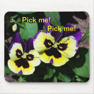 Pansy's twins looking at you mouse pad
